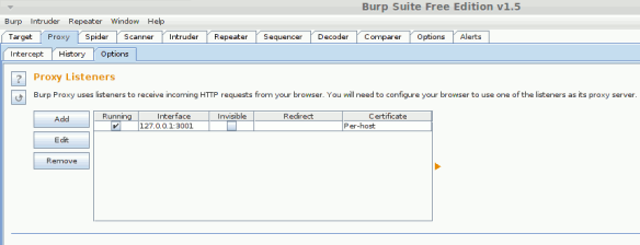Setup of Chromium, Burp Suite, Node js to view HTTP on the