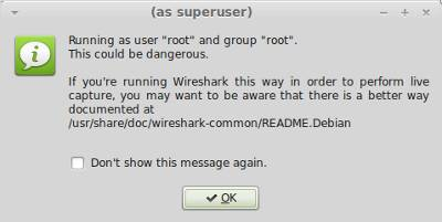 Wireshark as root