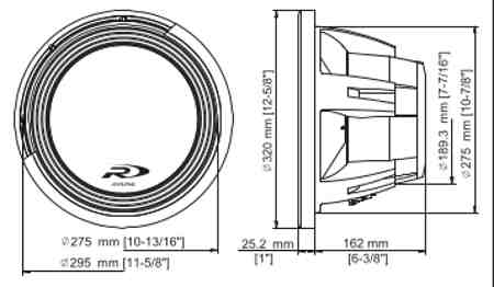 SWR-12D4 dimensions